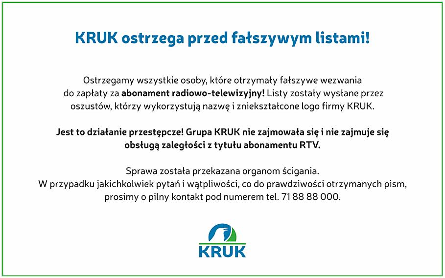 Oświadczenie KRUK S.A.